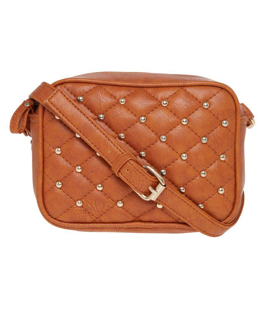 Horra Tan P.U. Sling Bag