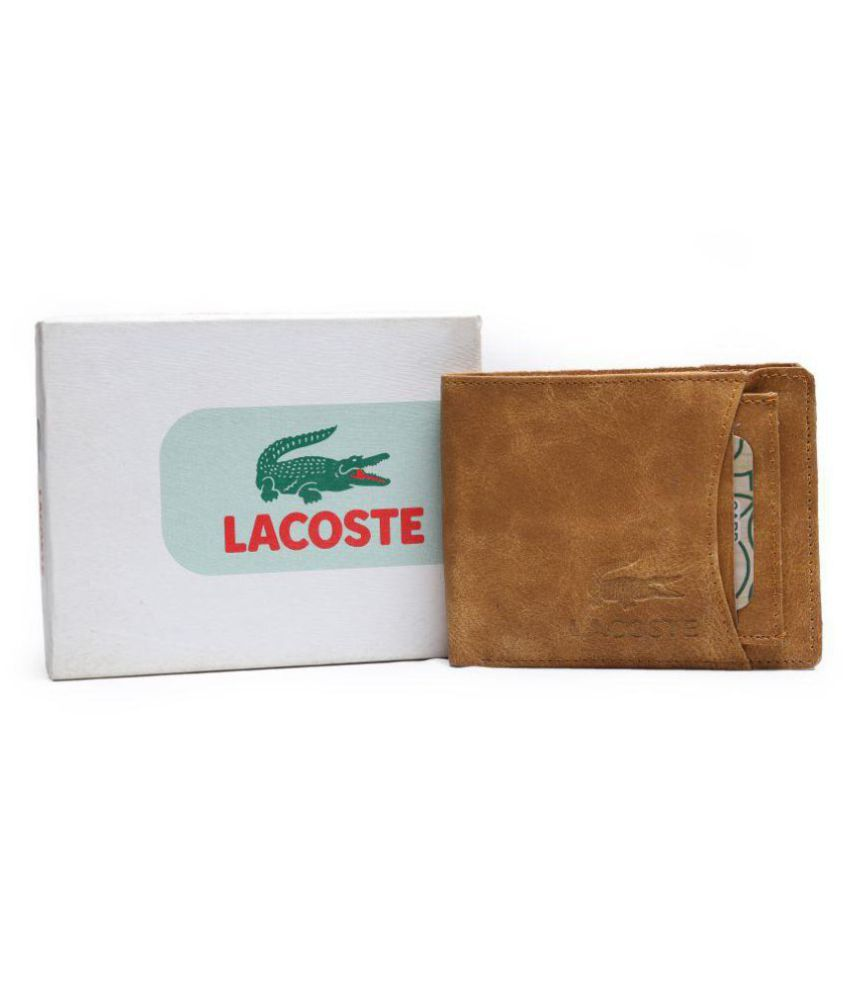 85c7a122d52 Lacoste Leather Brown Casual Regular Wallet: Buy Online at Low Price in  India - Snapdeal