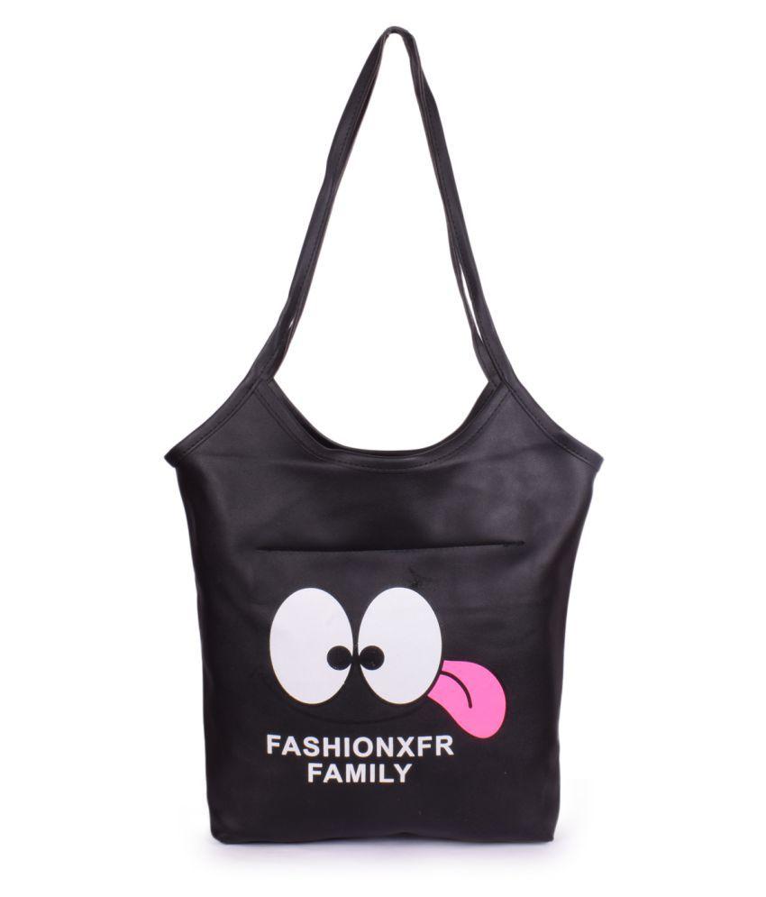 Bagkok Black P.U. Hobo Bag
