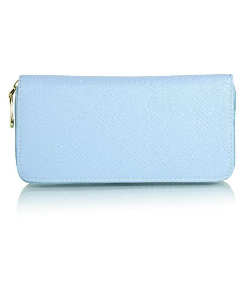 Fiona Trends Blue Faux Leather Box Clutch