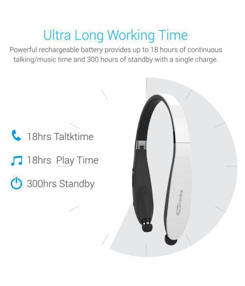 5ba1f25bfb9 ... Portronics Harmonics 200 POR-930 Bluetooth Headset In Ear Wireless  Earphones With Mic ...