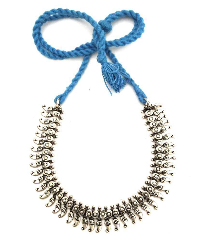 athizay Brass Blue Collar Contemporary/Fashion Necklace