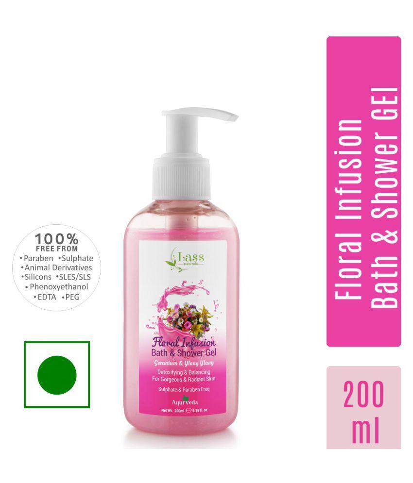 Lass Naturals Floral Infusion with Geranium & Ylang Ylang Bath & Shower Gel 200 ml Shower Gel 200 ml