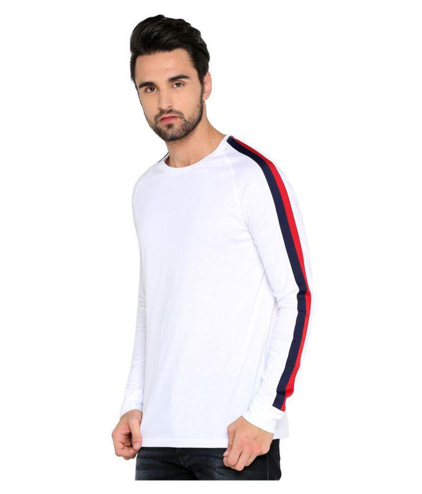 Maniac White Full Sleeve T-Shirt Pack of 1