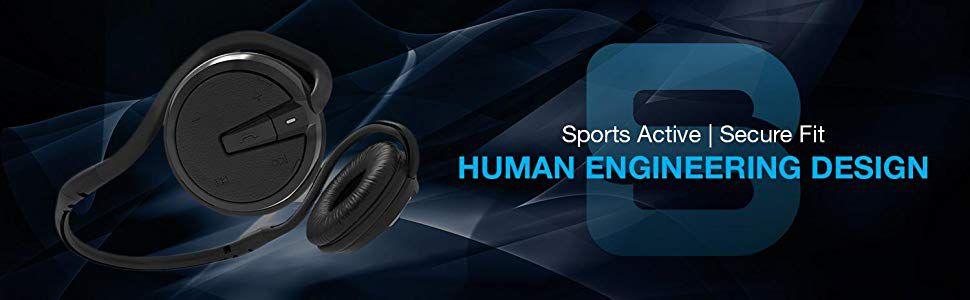 ecf7ca20882 SoundBot® SB221 HD Wireless Bluetooth 4.0 Headset Sports-Active Headphone  for 20Hrs Music Streaming & 25Hrs HandsFree Calling w/ Sweat Resistant  Ergonomic ...