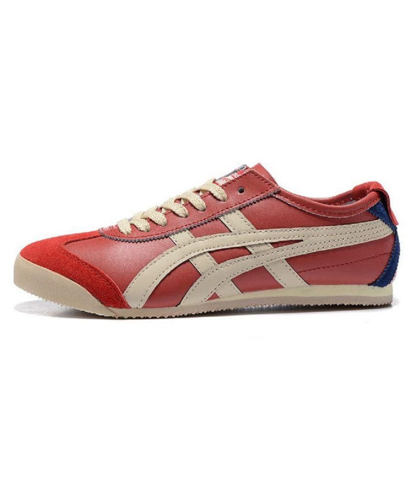 lowest price 87aaa 4b558 ONITSUKA TIGER Mexico 66 Red Running Shoes Red