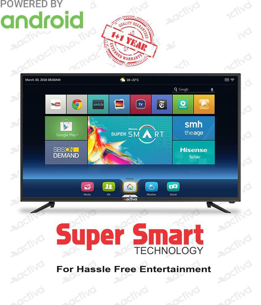 Activa ACT-40 SMART Android 102 cm ( 40 ) Full HD  LED Television With 1+1 Year Extended Warranty