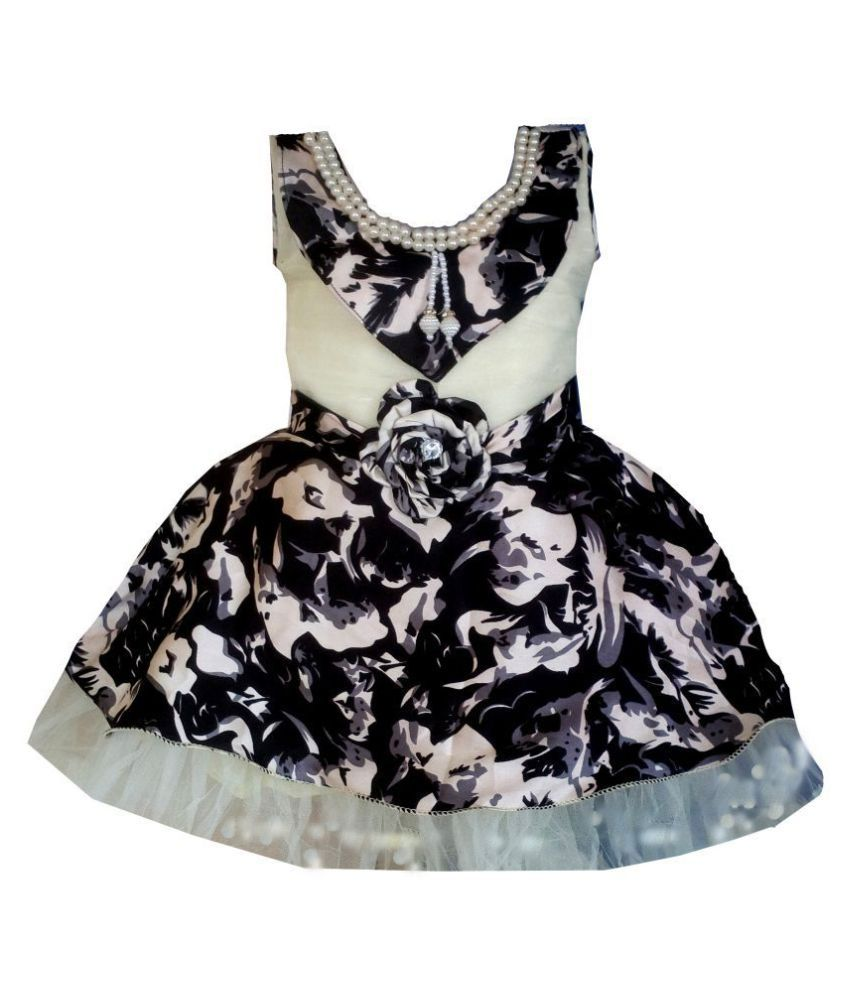 All About Pinks' Partywear dress for girls in Cotton
