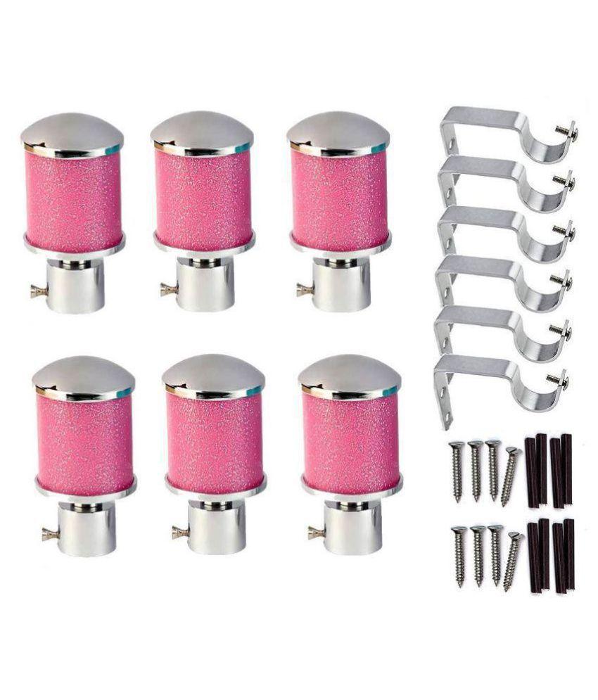 WSK Set of 6 Stainless Steel Single Rod Bracket
