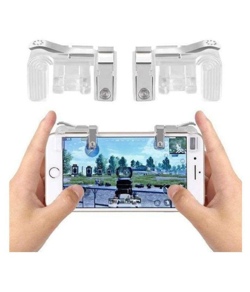 GADGETSMORE PUBG METAL Sensitive Shoot/Aim Buttons L1 R1 Trigger Mobile  Game Controller for Andriod & IOS Gaming Accessory Kit (Silver, For Mac OS)