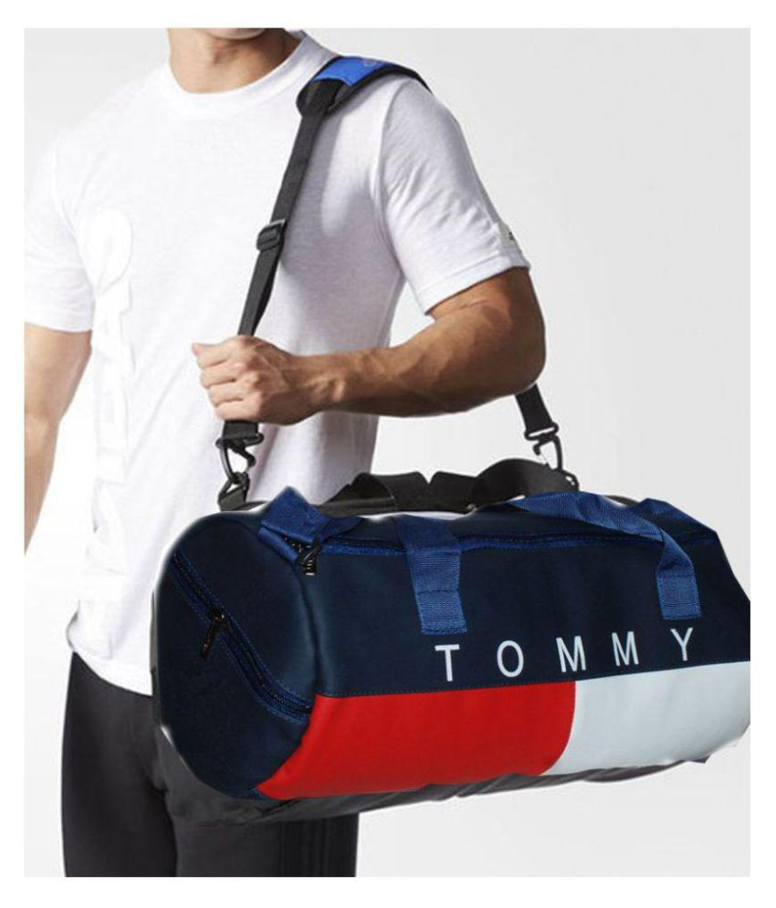 460f2c77ad2b Tommy Hilfiger Medium PU Leather Gym Bag Travel Duffle Bag Cross Bag  Leather Bag Men Man Side Bag