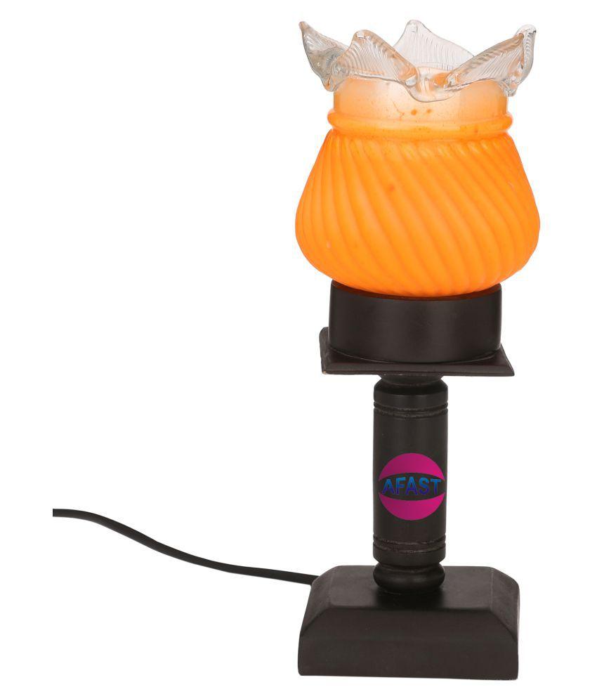 AFAST Orange LED Tea Light Candle Holder - Pack of 1