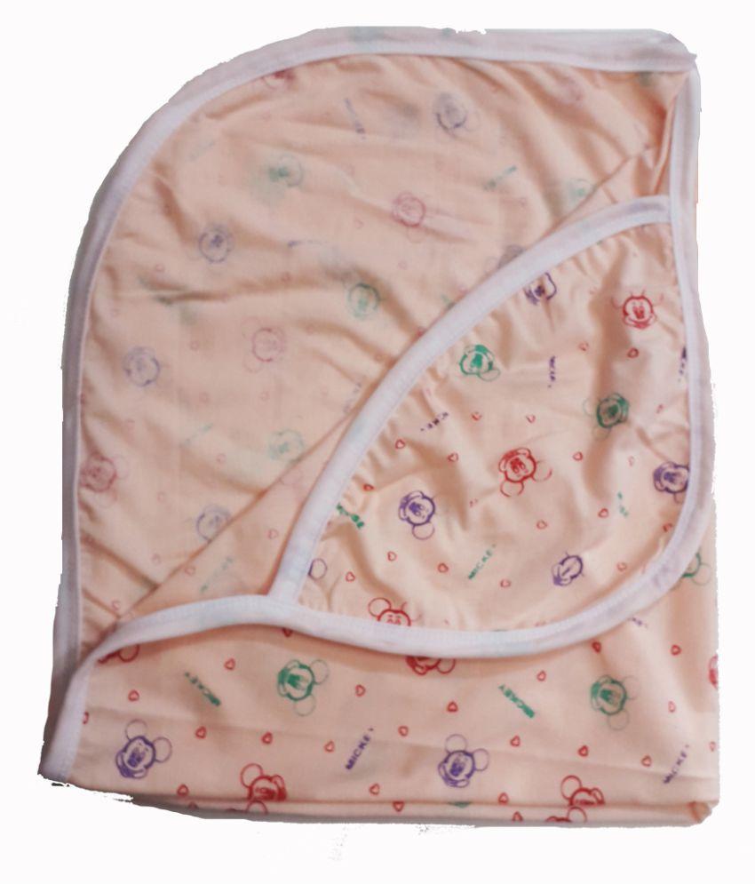 Baby Multi-Colour Cotton Baby Wrap cum blanket ( 77 cm × 64 cm - 1 pcs)