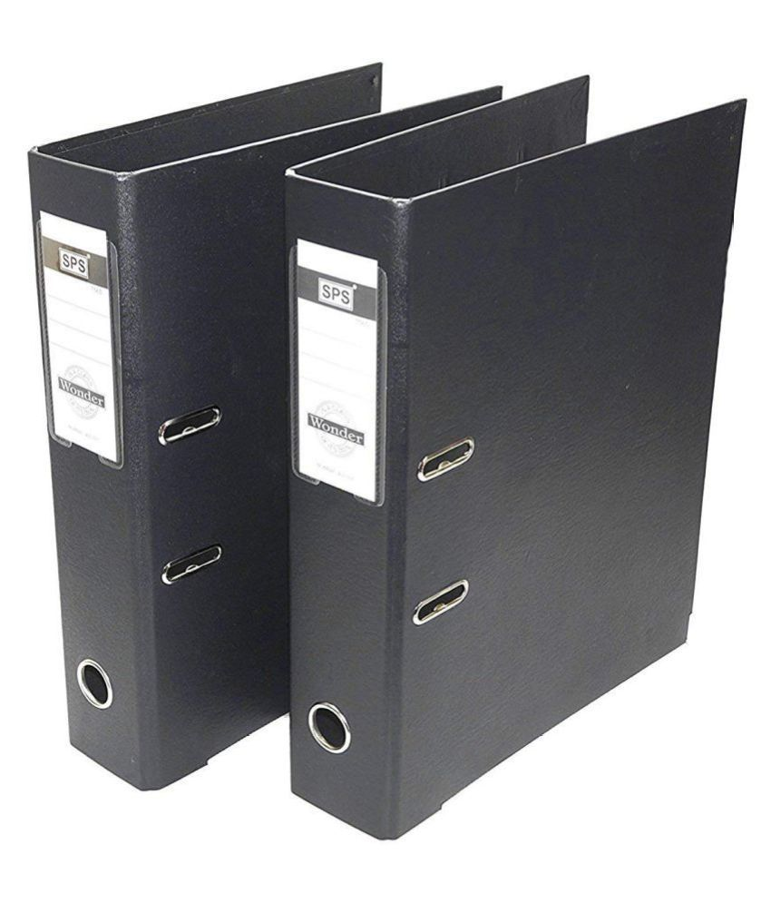2 Pack Box File, Polymer Elite Executive/Corporate Series FC Lever Arch File - Office Documents & Certificates Storage