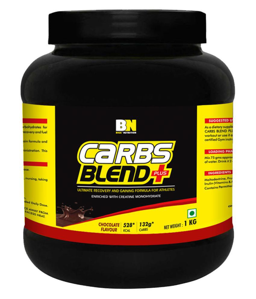 Bigg Nutrition Carbs Blend Plus Excellent Source of Carbohydrates with the Power of Creatine 1 kg Weight Gainer Powder
