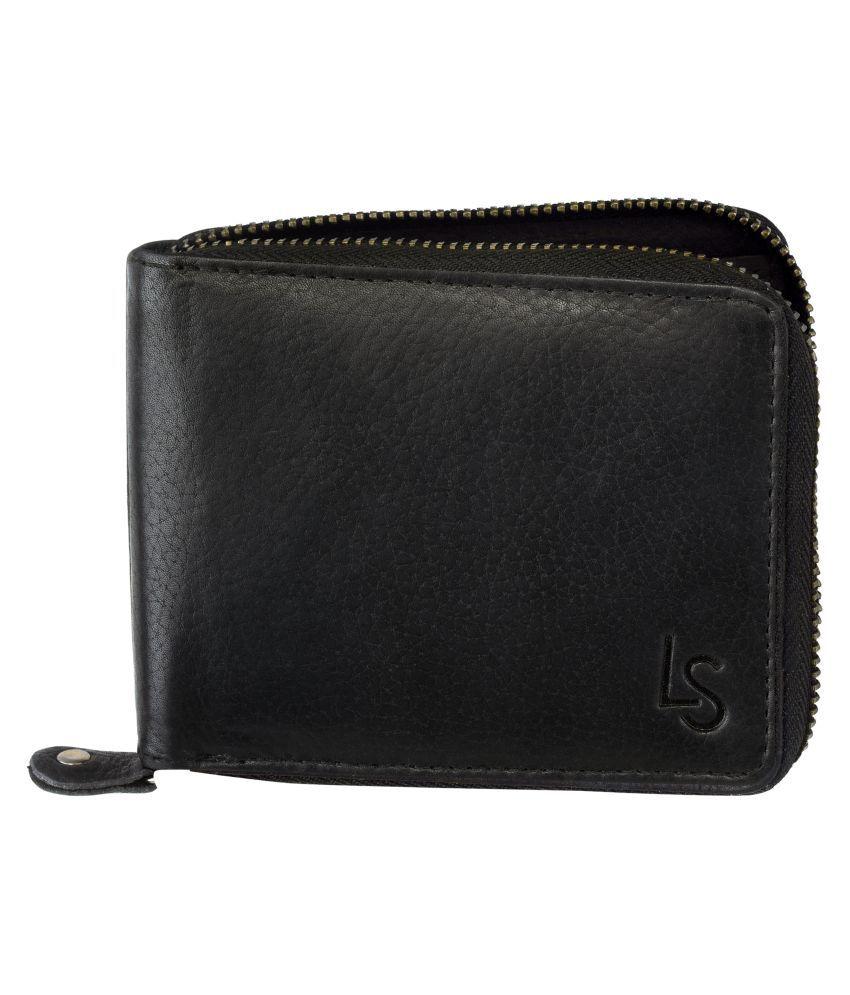 Laurels Select Leather Black Casual Regular Wallet