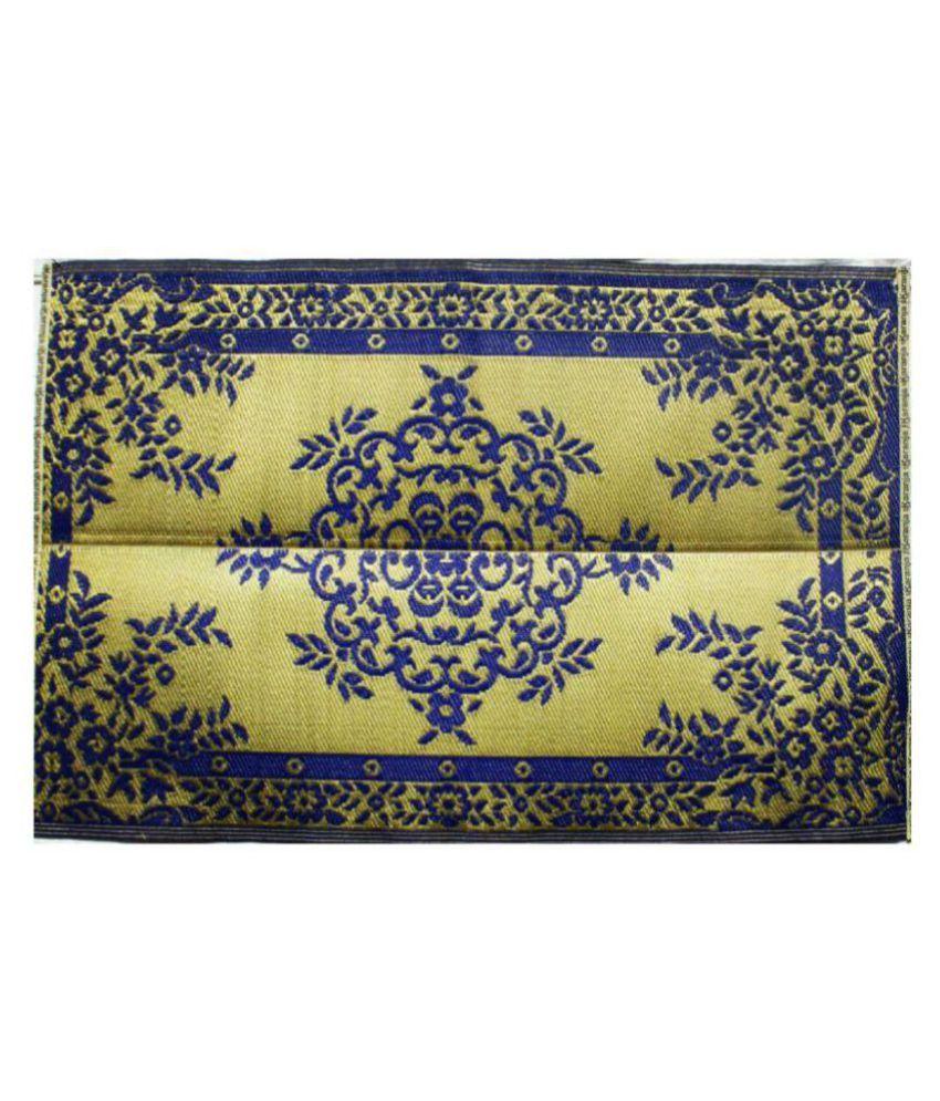karanja Blue Single Regular Floor Mat