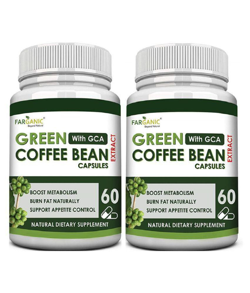 Farganic Green Coffee Beans Extract Capsule With 50 Gca For