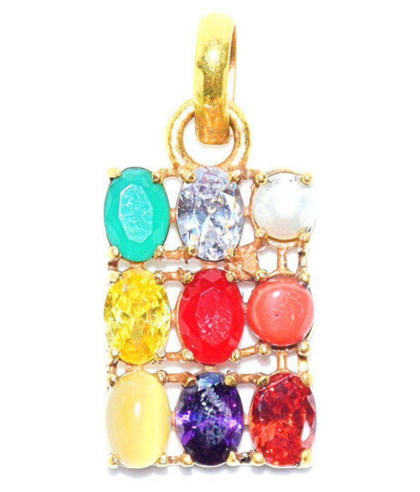 Navaratan Ashtdhatu pendanr with 100% Original semi precious gemstones