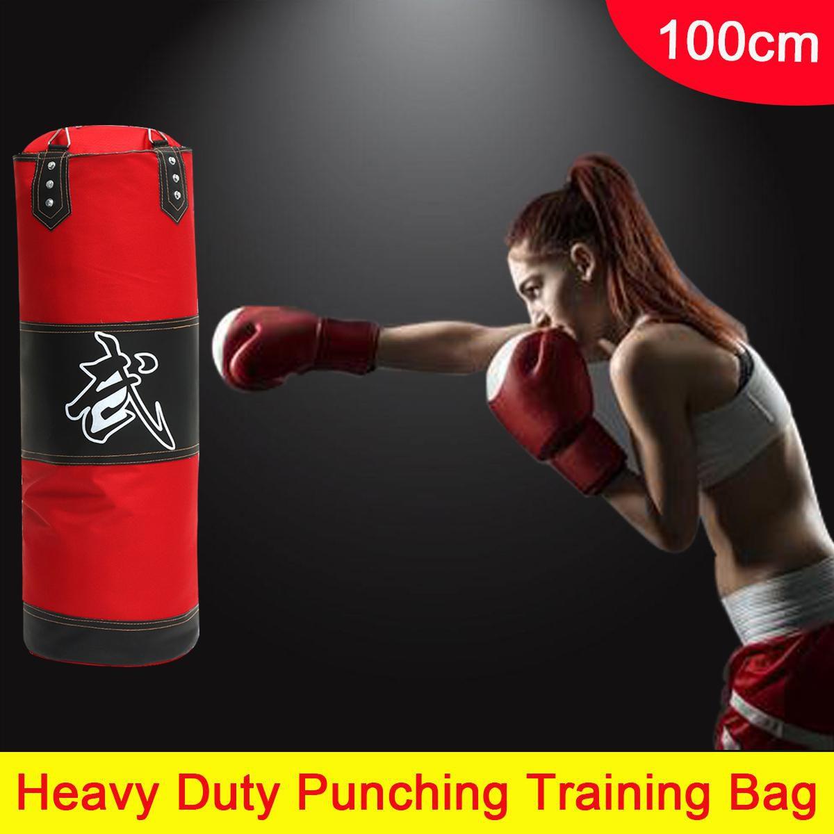 100cm Training MMA Boxing Hook Kick Sandbag Fight Karate Punch Punching Sand Bag