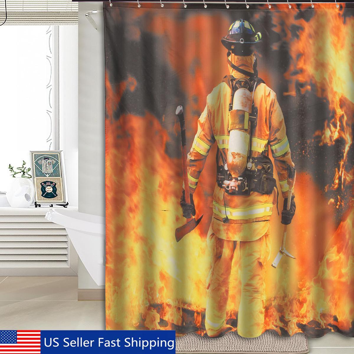 Waterproof Polyester Fabric Firemen Design 12 Hooks