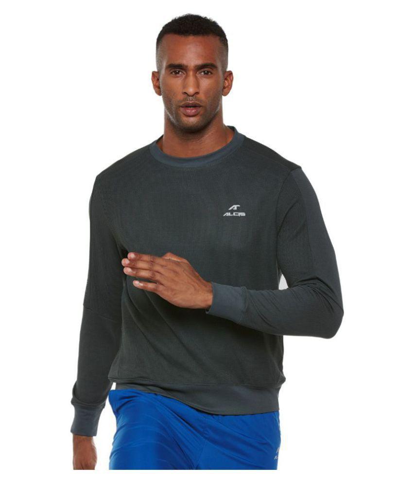 Alcis Grey Polyester Terry Sweatshirt