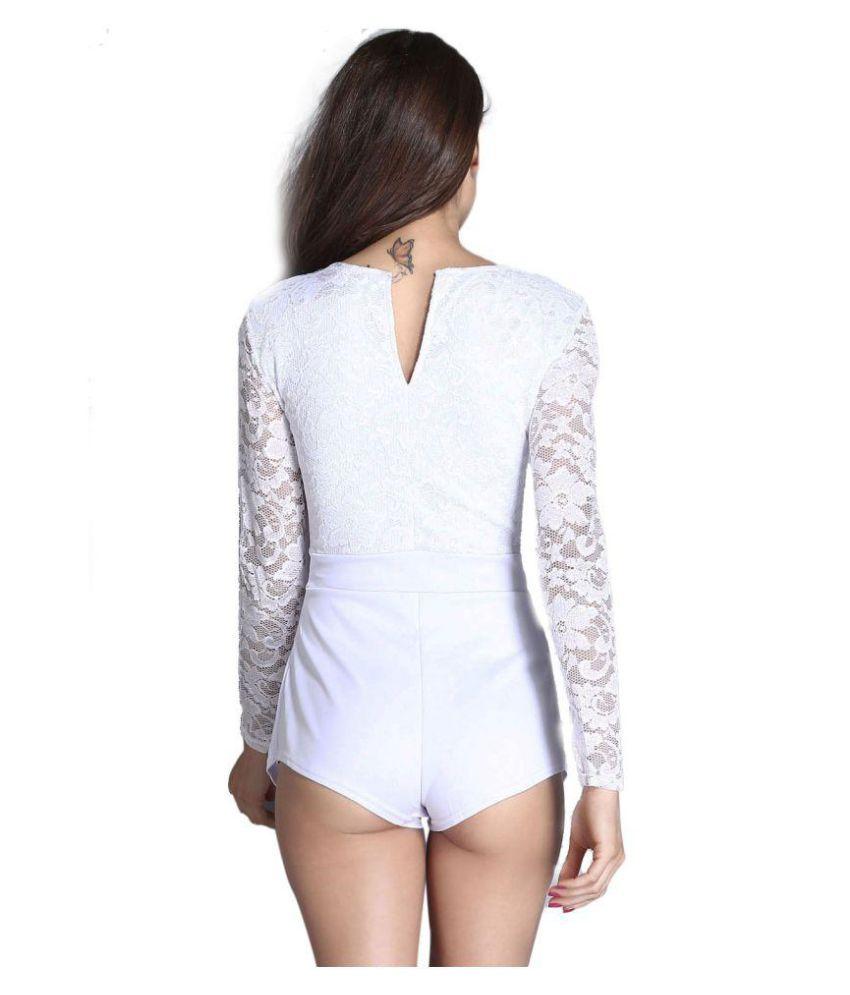 Kaamastra White Polyester Jumpsuit