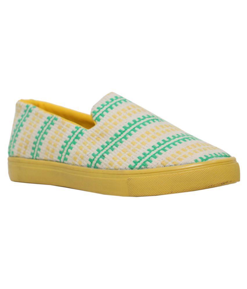 Vegan Basics Green Casual Shoes Price