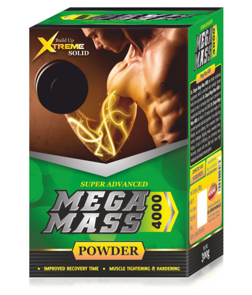Ayurveda Cure Mega Mass 4000, 300 gm Weight Gainer Powder
