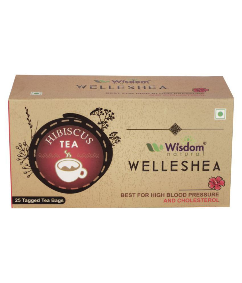 Wisdom Hibiscus Tea Bags 89 gm Pack of 25