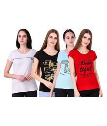 Romaisa Cotton Multi Color T-Shirts
