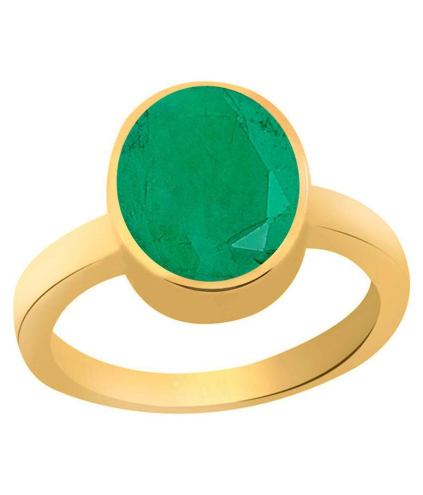 5.25 Ratti Lab Certified Panna/Emerald Stone Ring Orignal & LAb Certified Panna Ring By CEYLONMINE
