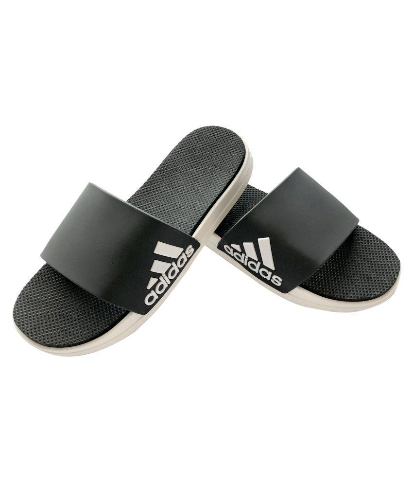 Adidas Black Slide Flip flop Price in