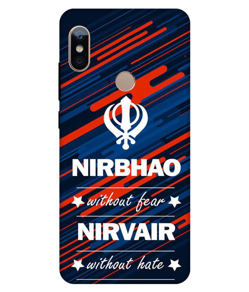Xiaomi Redmi Note 5 Pro Printed Cover By Digi Swipes Without Fear Punjabi Premium Quality Mobile Back Cover and Cases