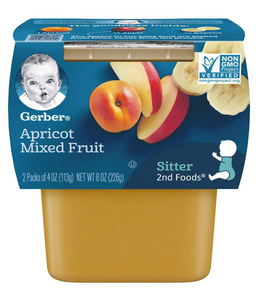 Gerber Apricot Mixed Fruit Snack Foods for Under 6 Months ( 678 gm ) Pack of 3