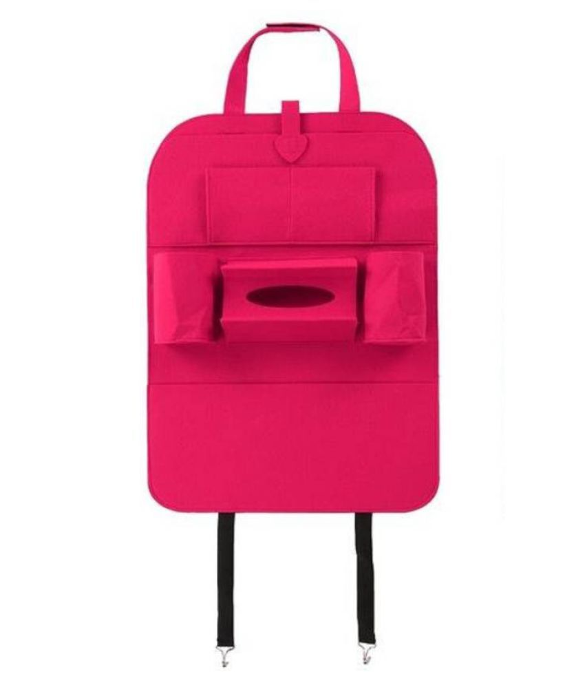 Ibs Multi Pocket Organizer for Front Seat Side Pink