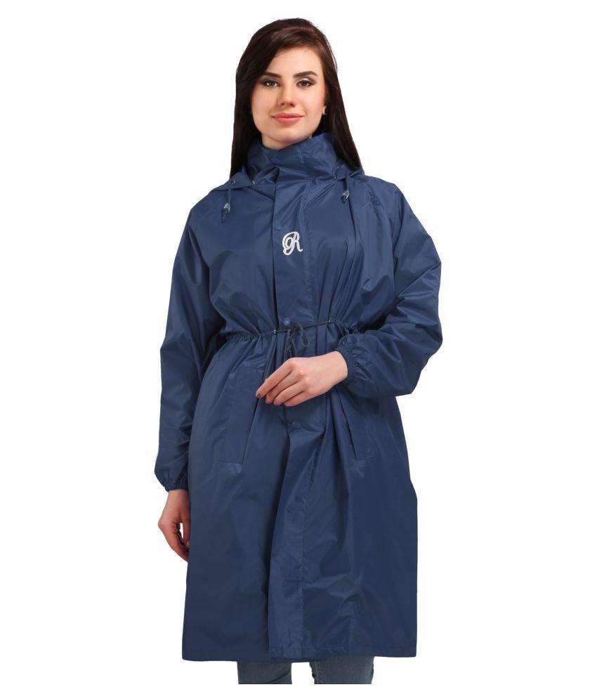 Goodluck Polyester Long Raincoat - Navy