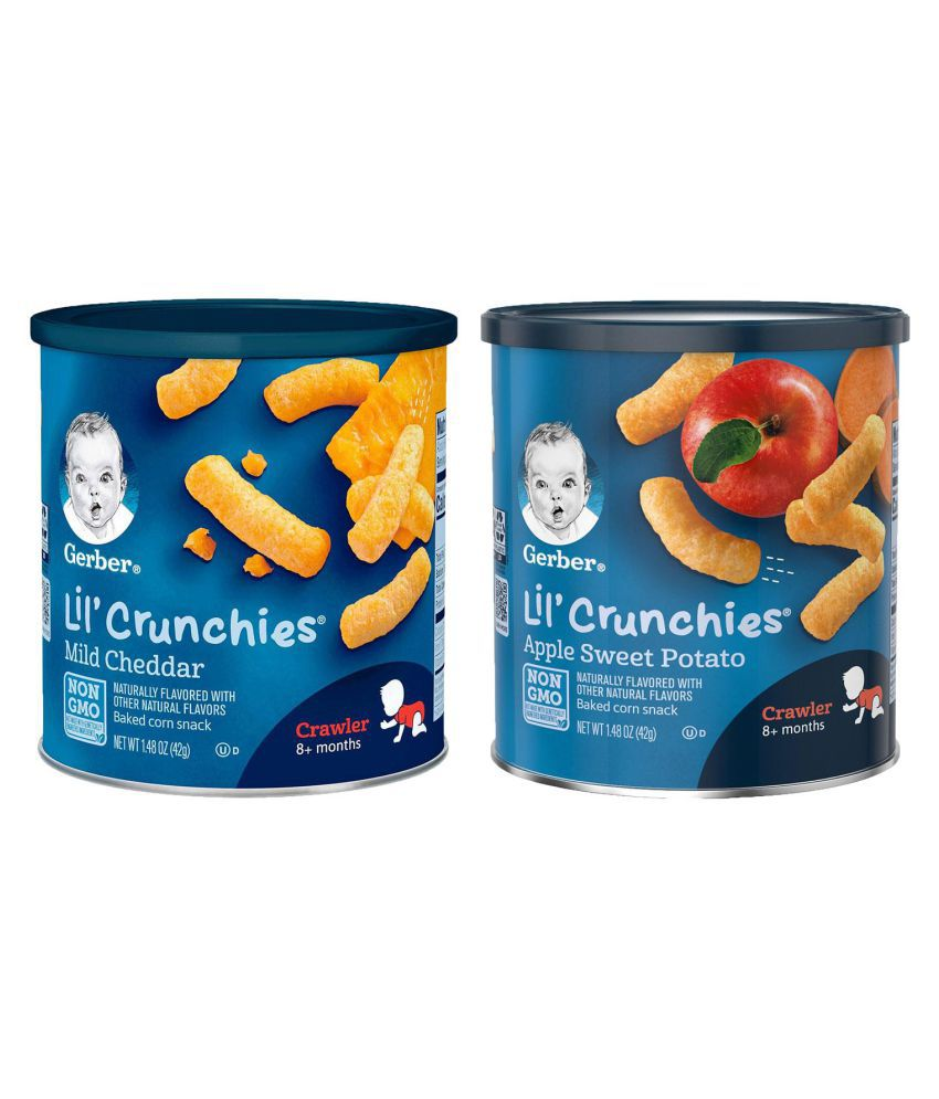 Gerber ASP + Mild Cheddar Snack Foods for Under 6 Months ( 84 gm ) Pack of 2