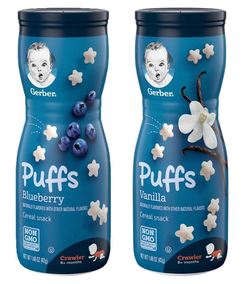 Gerber Blueberry + Vanilla Snack Foods for Under 6 Months ( 84 gm ) Pack of 2