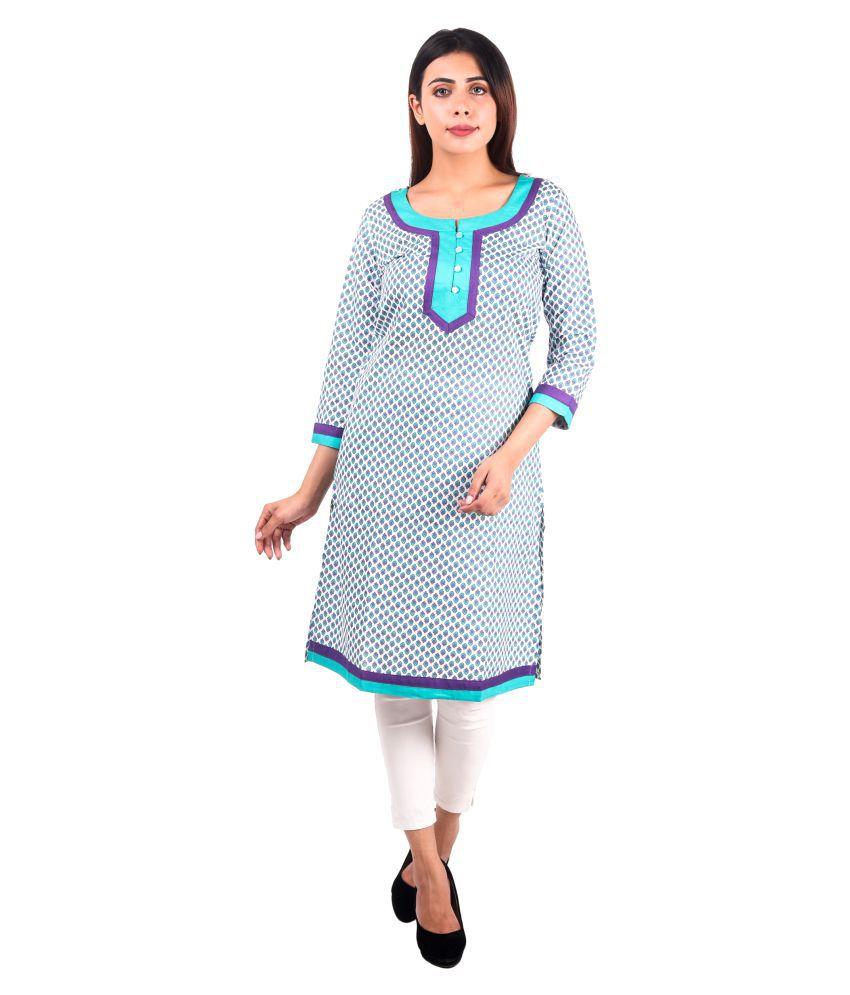 Kalakaari Multicoloured Cotton A-line Kurti