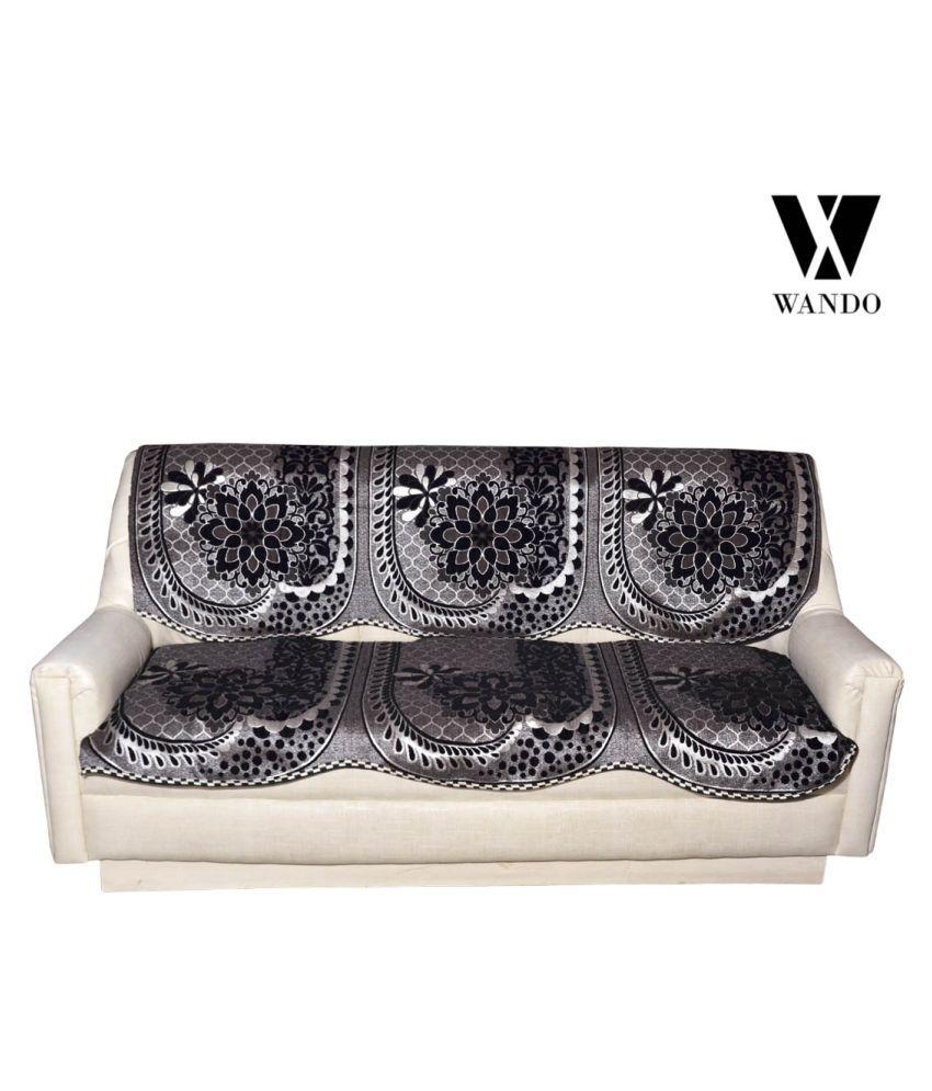 WANDO 3 Seater Velvet Set of 6 Sofa Cover Set - Buy WANDO 3 ...