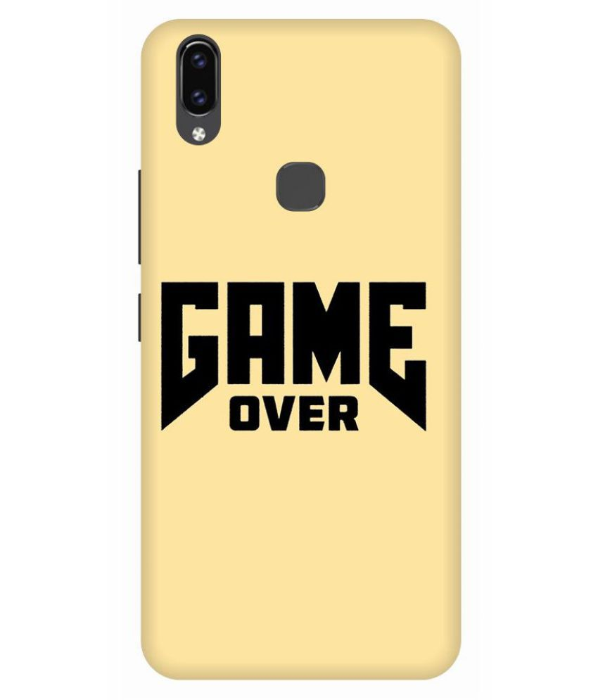 Vivo V9 Printed Cover By Digi Swipes Game Over Premium Quality Mobile Back Cover and Cases Raised Lip for screen protection.