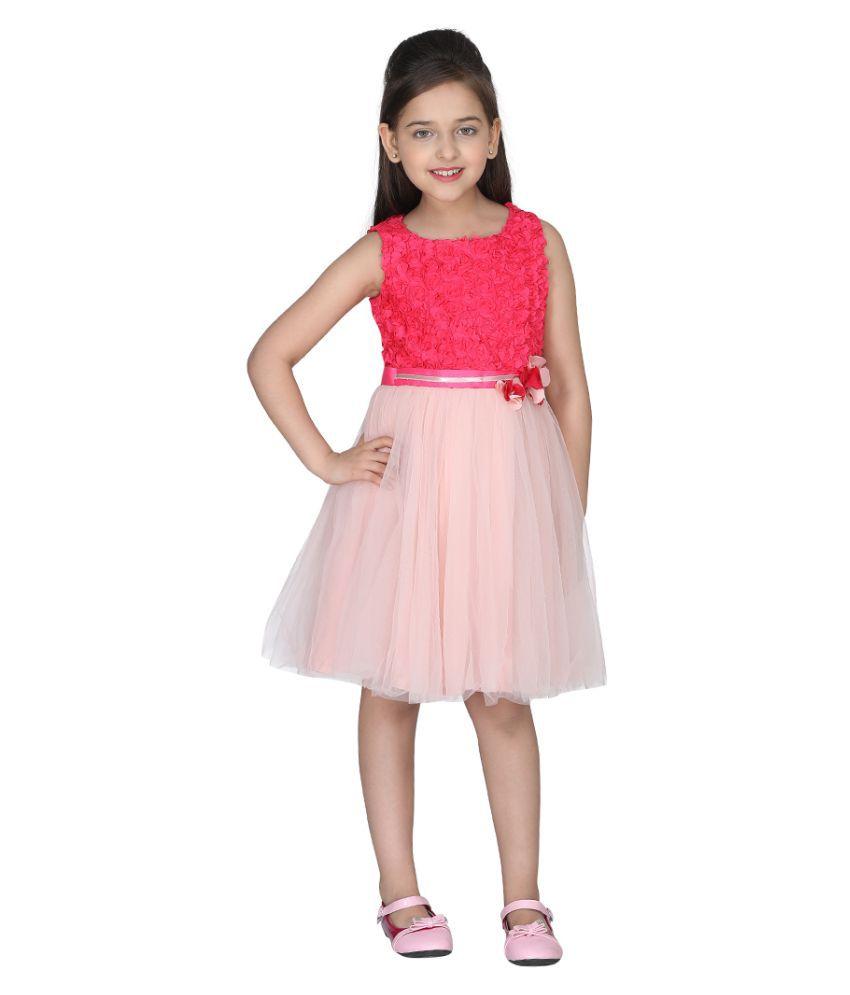 Cutecumber Girls Partywear Net Dress