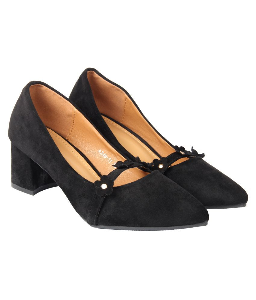D SHOE LOUNGE Black Block Heels