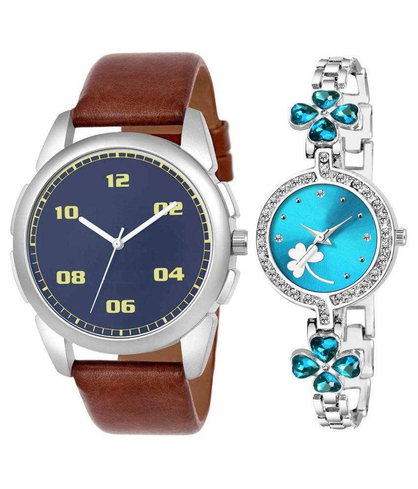 Vasant Impex Blue Dial  New Stylish Couple Watch For Men And Women 279