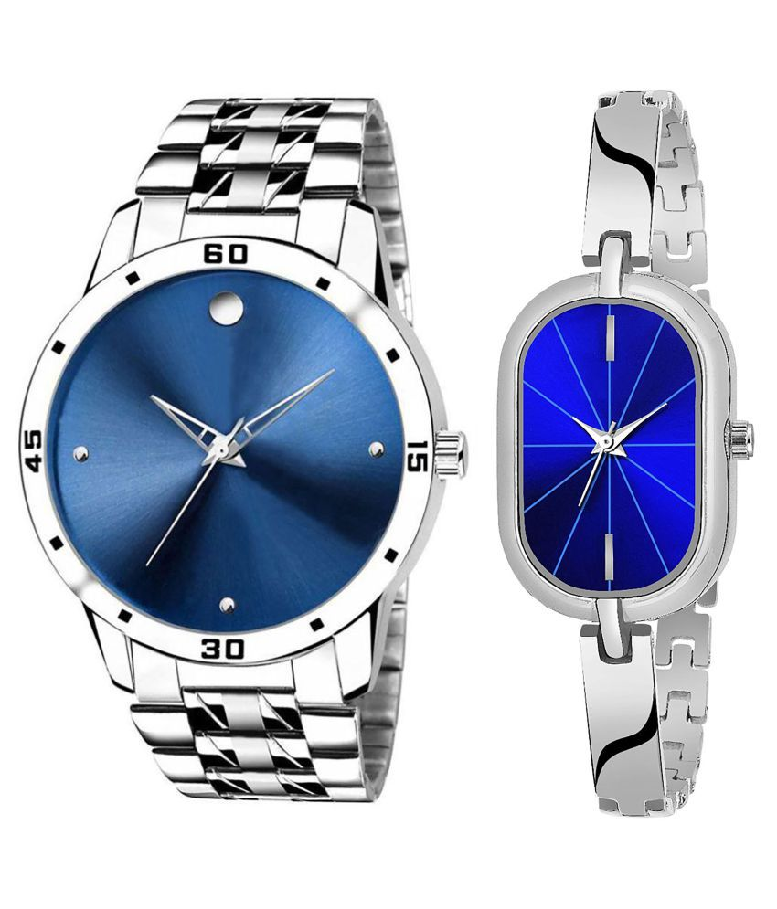 Vasant Impex Blue Dial  New Stylish Couple Watch For Men And Women 309