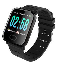 Life Like A6 Heart Rate Waterproof Smart Watches Black