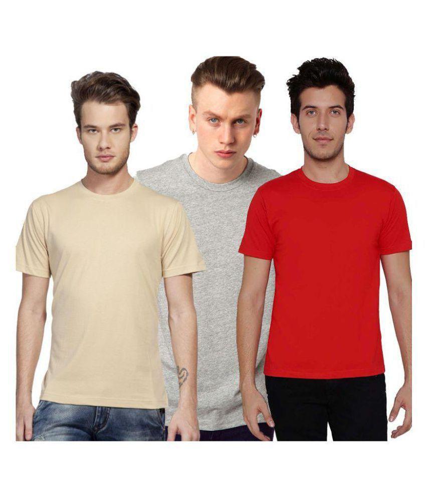 Vinson Multi Cotton T-Shirt Pack of 3