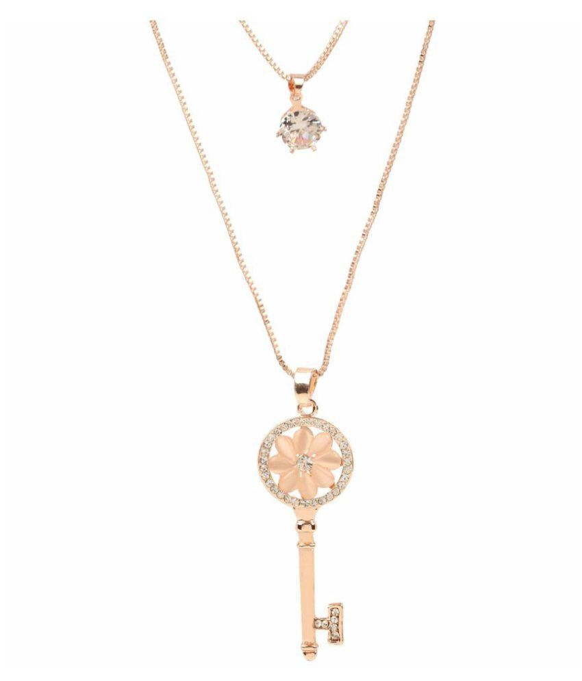ashion Jewellery Stylish Pendants for Girls with Long Chain Pendent Party Western Wear Necklace for Women & Girls