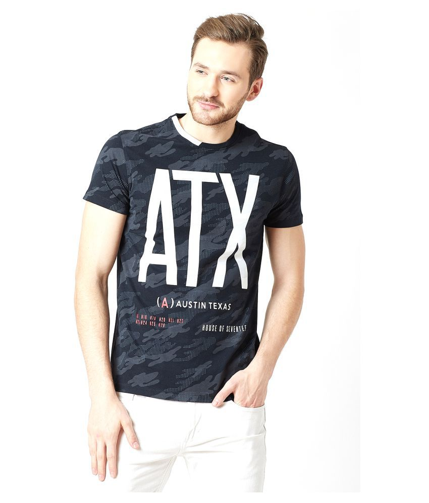 Octave Navy Half Sleeve T-Shirt